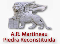 Reconstituted stone AR Martineau